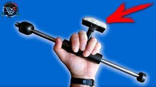 Инструмент для удаления вмятин из старой рулевой тяги!!!