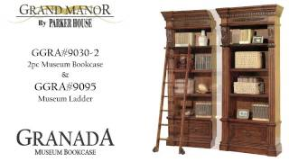 Parker House Grand Manor Granada Bookcase Wall