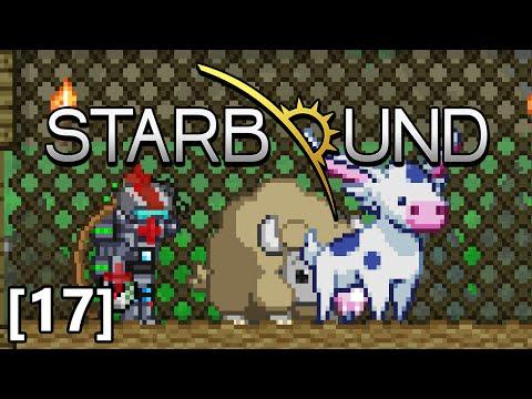 Starbound - Part 17 - Durasteel Armour, Mooshi and Fluffalo Farm, Upgrading Ship