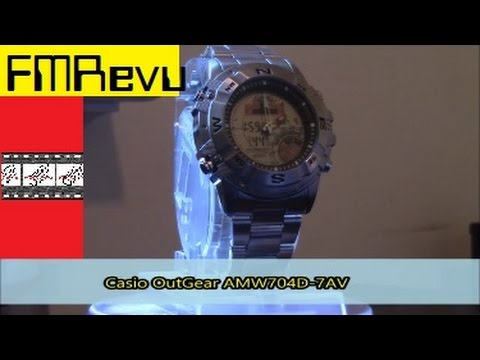 Casio OutGear AMW704D-7AV Hunting Timer Men's Fashion Watch Review