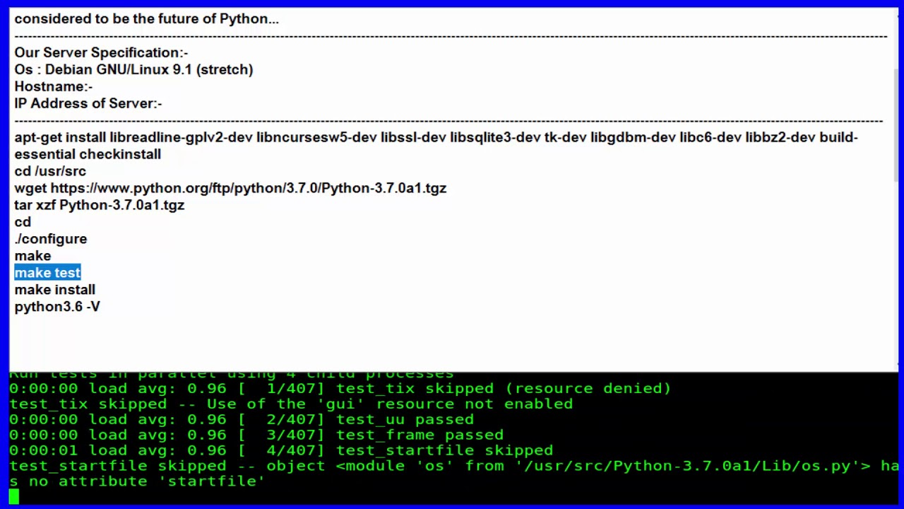 How To Install Python 3 7 on Debian 9 1 Stretch