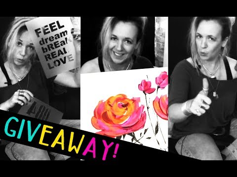 Abstract flowers acrylicpainting - Blumenbilder GIVEAWAY & THANK YOU & SORRY from zAcheR-fineT