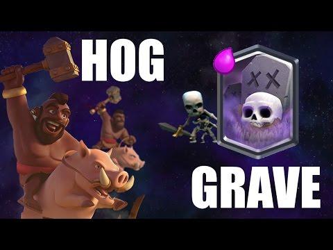 Clash Royale - Hog Rider + Graveyard Deck | Live 1000 Player Tournament!