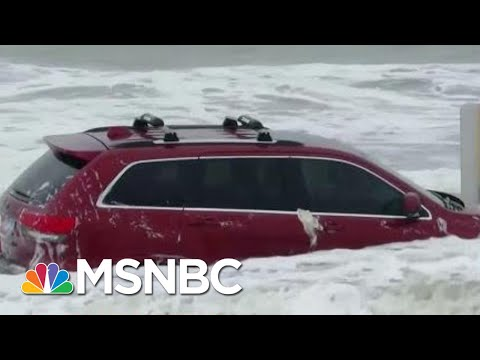 Waves From Hurricane Dorian Toss Around Flooded Jeep On Myrtle Beach | The 11th Hour | MSNBC