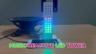 DIY Music Reactive LED Tower | Full Color LED