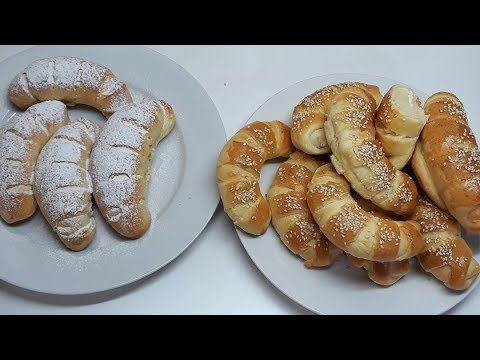 MEKANE KIFLICE( TAČNA MERA ZA POČETNIKE)-CROISSANTS-ROOLS WITH CHEESE AND CREAM