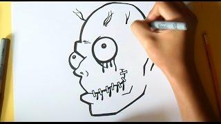como desenhar um rosto Zombie Grafite   Wizard art - by Wörld
