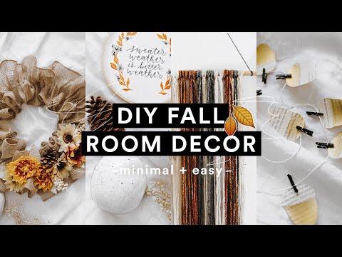 DIY Cozy Fall Room Decor (2018) 🍂🌻 Minimal + Super Easy for Autumn // Lone Fox