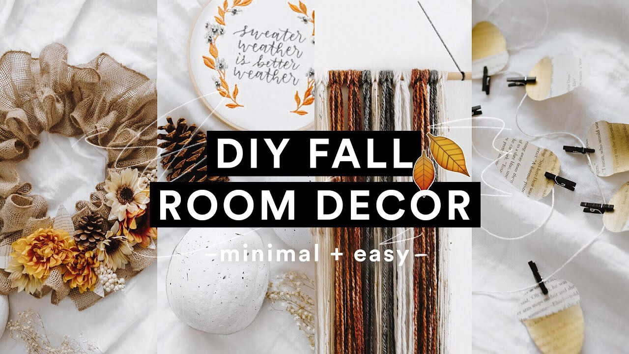 [VIDEO] – DIY Cozy Fall Room Decor (2018) 🍂🌻 Minimal + Super Easy for Autumn // Lone Fox