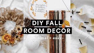 Diy Cozy Fall Room Decor (2018) Minimal   Super Easy For Autumn // Lone Fox