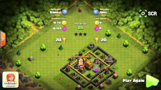 Clash of clans-stupidest player is attacking me!
