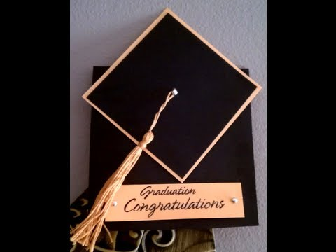 How To Make A Tassel Graduation Cap Card