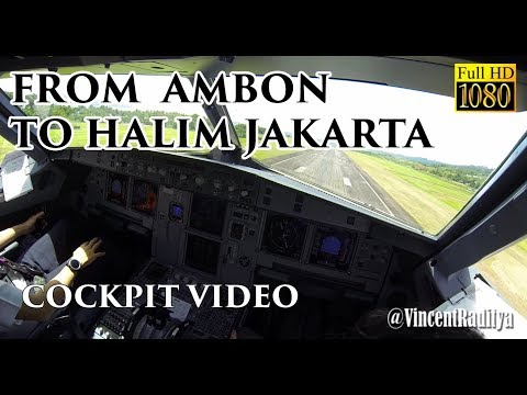 ( FO VIEW - Ind ) Airbus A320 Ambon to Jakarta Halim