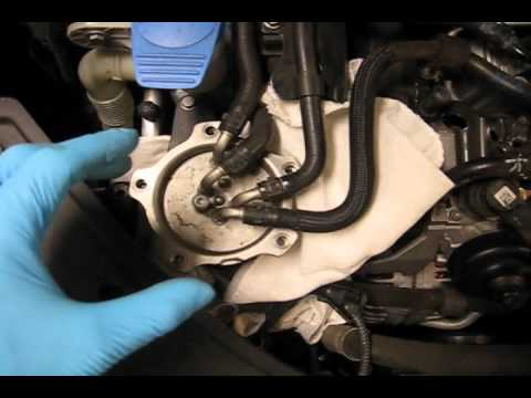 2009 VW Jetta TDI - Fuel Filter Change - YouTube