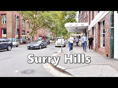 SURRY HILLS Sydney Australia - Walking From Sydney Central Station To Surry Hills