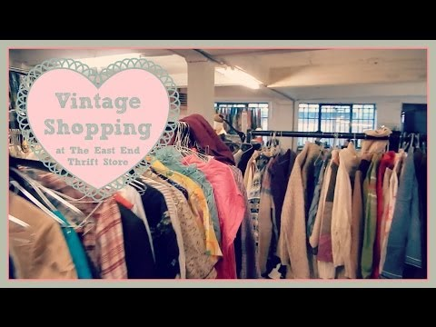 Vintage Shopping at The East End Thrift Store | Vintage Frills and Blog a Book Etc