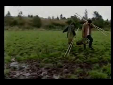 Battle of Bannockburn 1314- two men in a trench