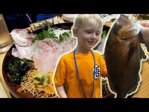 Catch and Cook Fishing Restaurant!!!!! Japanese indoor fishing!