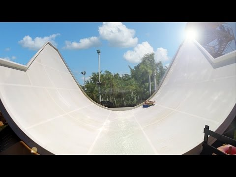 Western Park Magaluf - Boomerang | Giant Halfpipe Slide! Onride POV