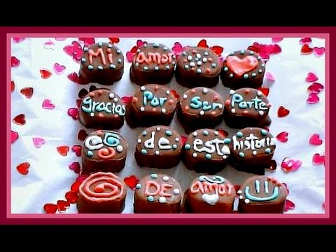 Bombones De Chocolate Decorados Con Amor Adrii Ga Youtube