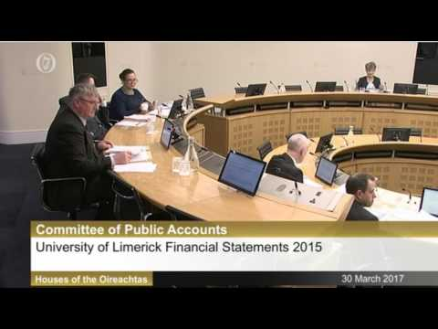 University of Limerick at the Public Accounts Committe (Part II)