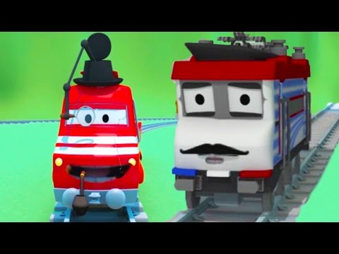 Troy el Tren es un Ladrón en la Cuidad de Trenes |Dibujos animados para niñas y niños
