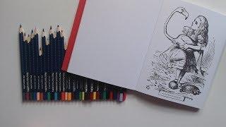 Alice in Wonderland - Classic Colouring - Faber Castell Aquarelle Pencils