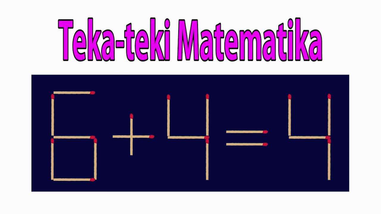 Tes Iq Teka Teki Matematika Youtube