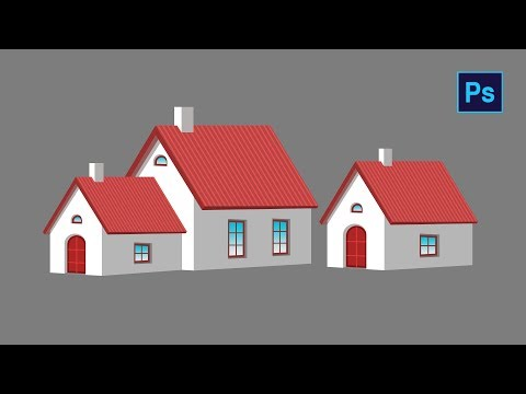 #Photoshop Tutorial - How To Draw House In Photoshop