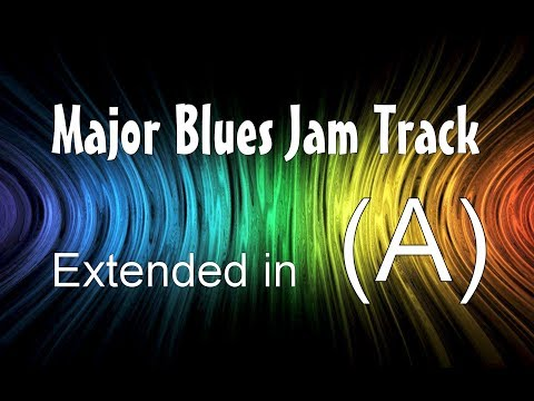 20-Minute Long Blues Backing Track in A - 65 Bpm