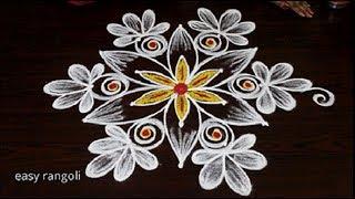 Latest Vijayadasami muggulu 2018 || easy Navarathri kolam || new Dussehra rangoli designs