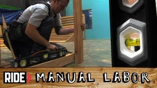 How-to Build A Skatepark - Quarter Pipe Part 4: Raise The Deck - Manual Labor