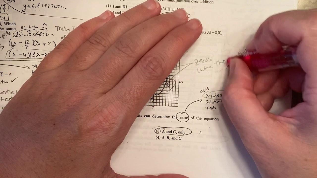 8A January 2019 Algebra 1 Regents Exam - YouTube