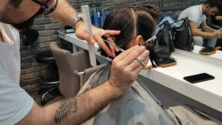 Kreatif Bob Saç Kesimi Yapımı