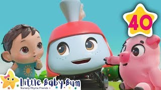 Animals Train Song | Little Baby Bum | Baby Songs & Nursery Rhymes | Learning Songs For Babies