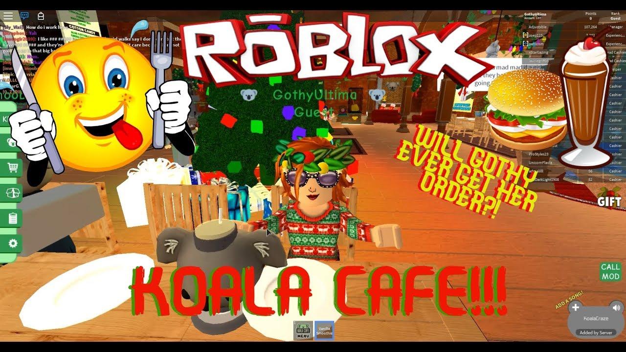 TRYING TO ORDER A VEGETARIAN BURGER AT KOALA CAFE! ROBLOX
