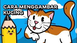 Cara Menggambar Kucing   How To Draw A Cat