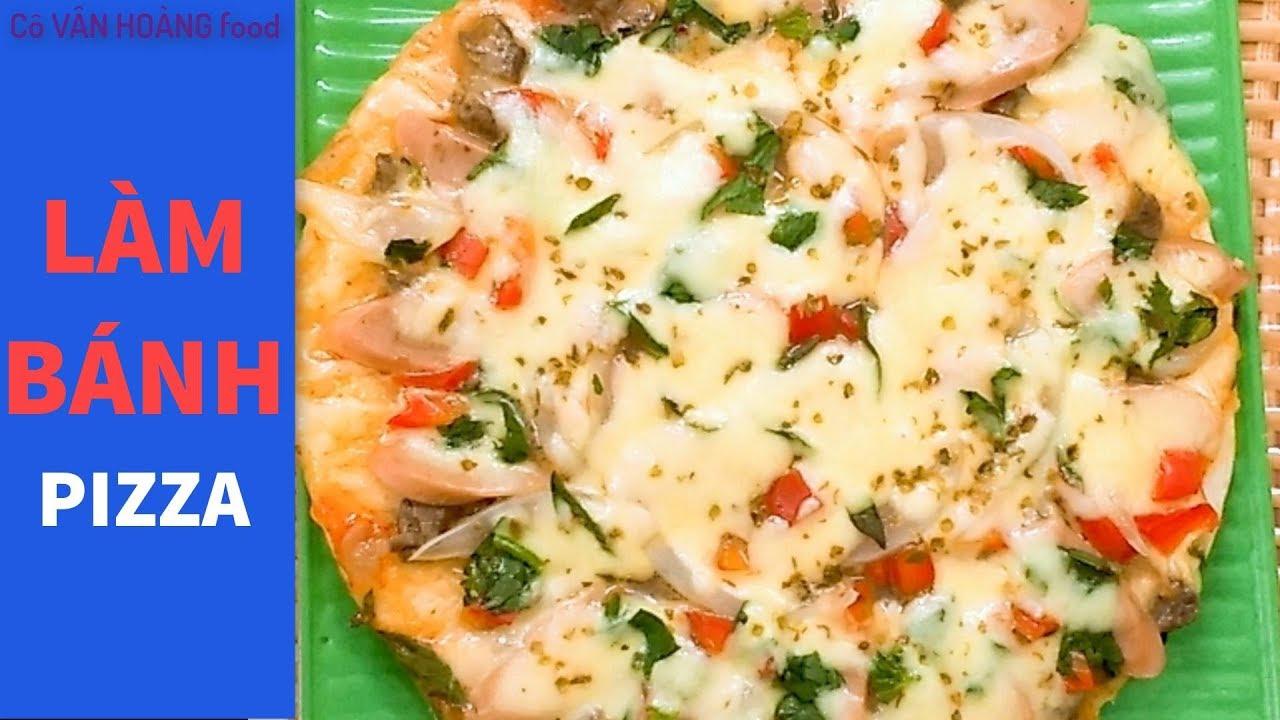 Cách làm bánh Pizza Thịt bò – Xúc xích không dùng lò nướng