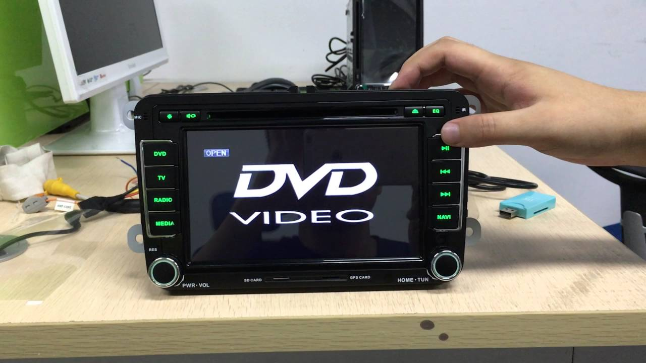 Android car stereo DVD player stuck, take out plastic, customer service on
