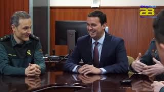 Encuentro institucional entre el presidente de Diputación y el coronel jefe de la Guardia Civil