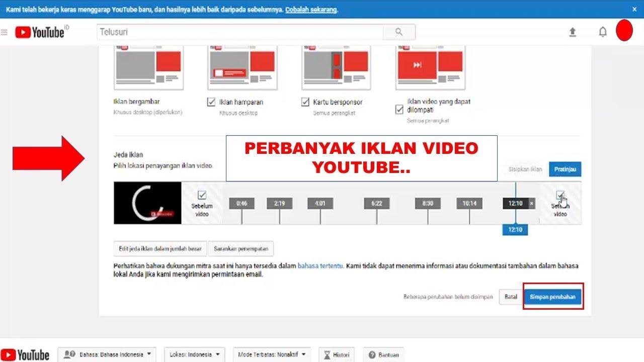 Tutorial Cara Pasang Iklan Dalam Jumlah Besar Di Video Youtube Youtube