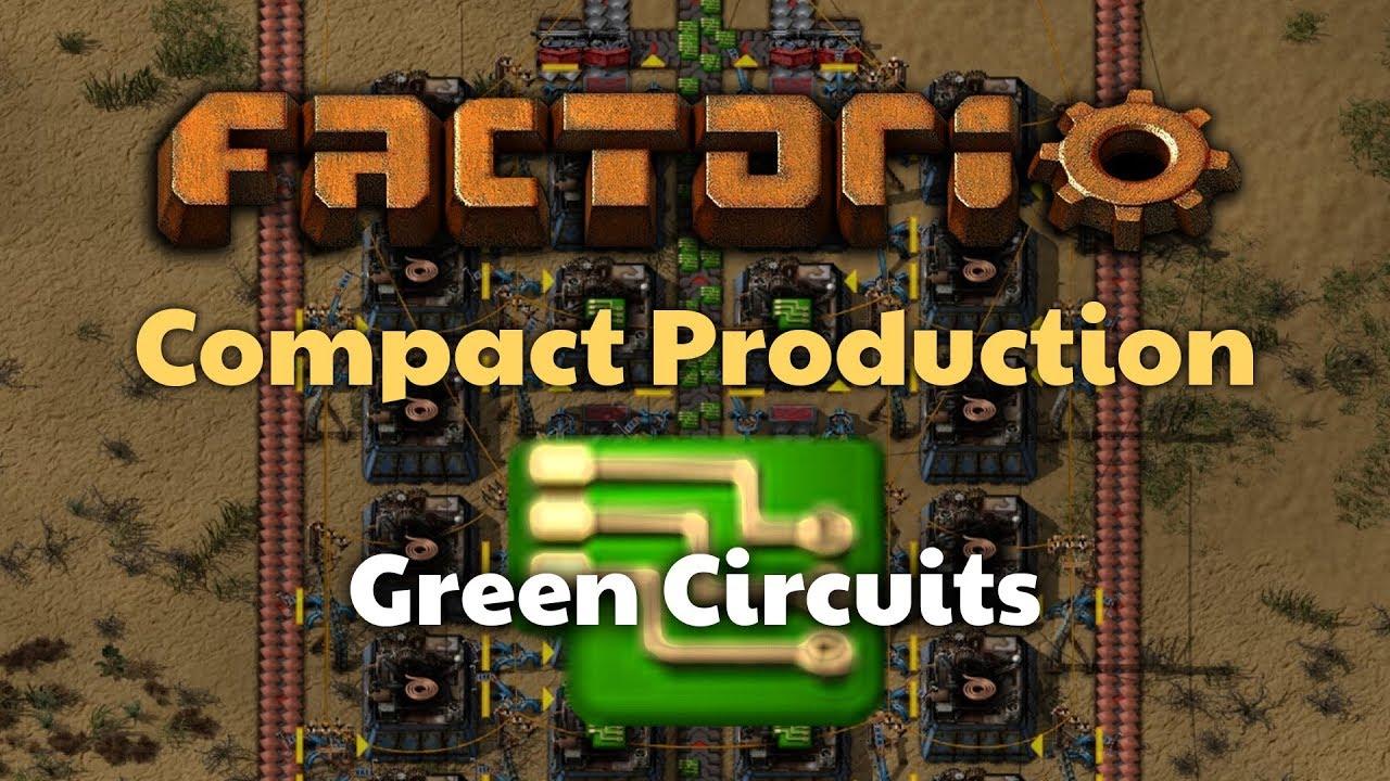 Factorio Compact Green Circuit Production