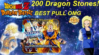 200 Dragon Stone Summon! Crossed Destinies banner DBZ Dokkan Battle (INSANE PULL)