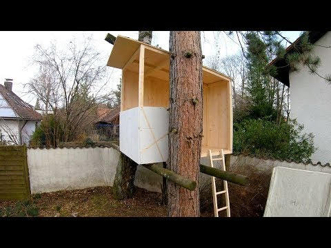 Building a kid's treehouse! (Full build)