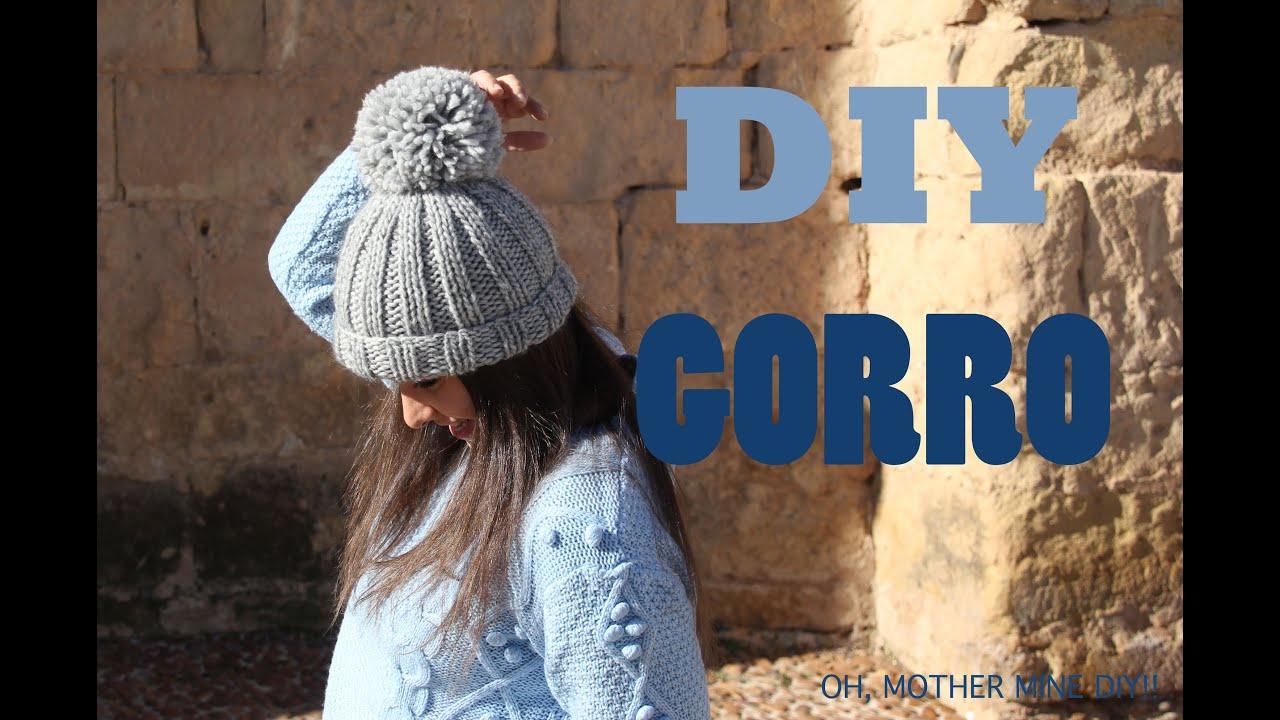 8e16bfe6e7d1f DIY Como hacer gorro de lana (patrón gratis) - YouTube