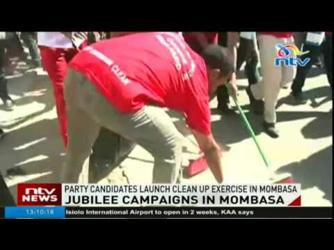 Jubilee candidates launch clean up exercise in Mombasa