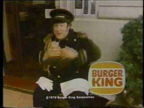 1979 Stuart Pankin Burger King Specialty Sandwiches Commercial