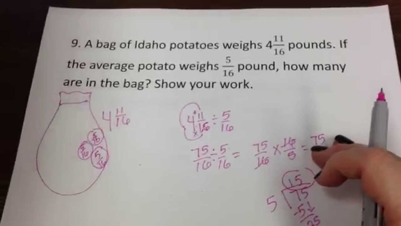 part 4- 6th grade math- test corrections
