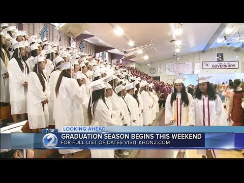 List of 2017 graduation dates for Hawaii