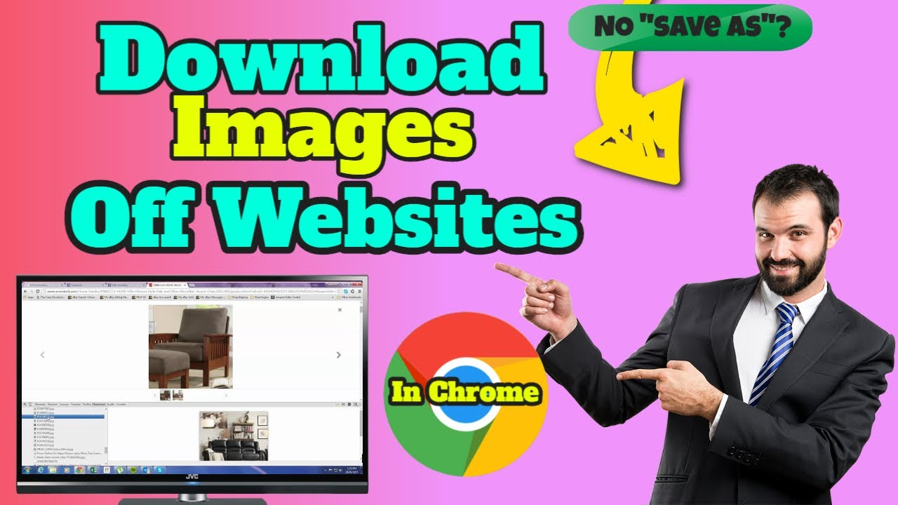 Download protected images off Website using Chrome